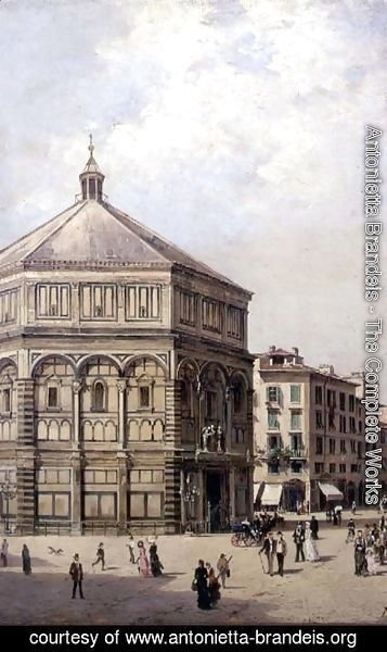 A View of the Baptistry in Florence