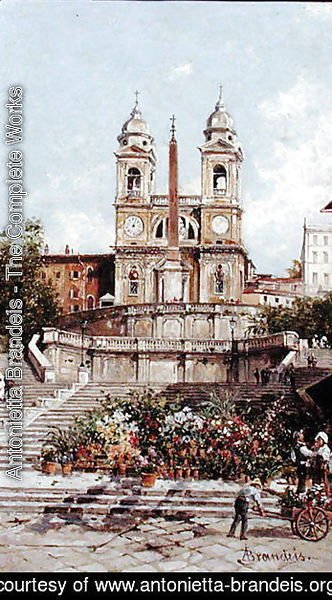The Flower Market before the Spanish Steps, Rome