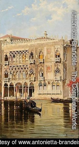 The Palazzo d'Oro on the Canal Grande in Venice