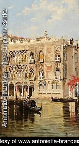 Antonietta Brandeis - The Palazzo d'Oro on the Canal Grande in Venice