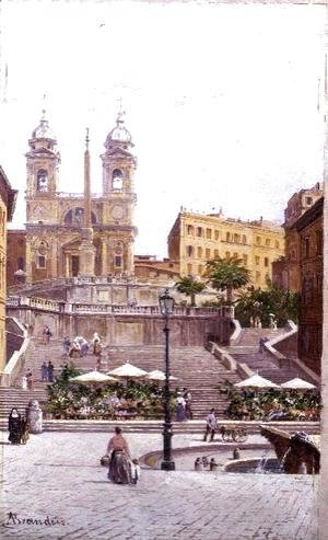 Antonietta Brandeis - The Spanish Steps, Rome