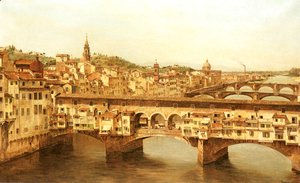 Antonietta Brandeis - View Of The Ponte Vecchio, Florence