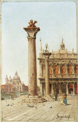 Antonietta Brandeis - Entrance to the Grand Canal from the Piazzetta