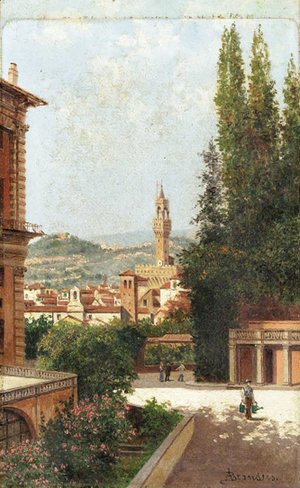 Antonietta Brandeis - A view of the Boboli Gardens