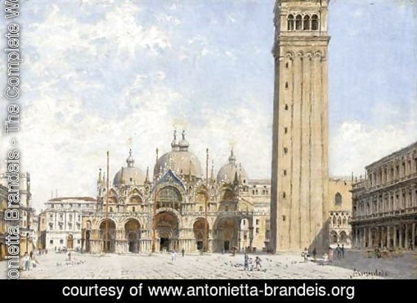 Piazza San Marco with a view of the Basillica and the Campanile, Venice