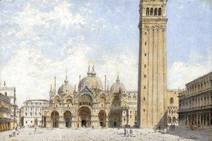 Antonietta Brandeis - Piazza San Marco with a view of the Basillica and the Campanile, Venice
