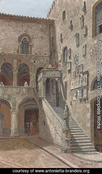 Antonietta Brandeis - The courtyard of the Bargello, Florence