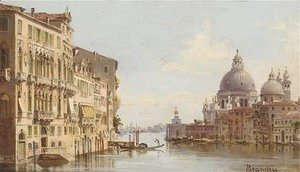 Antonietta Brandeis - The Grand Canal before Santa Maria della Salute, Venice