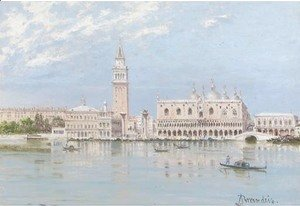 Antonietta Brandeis - The Piazza San Marco and the Doge's Palace, Venice