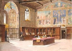 The Sacristy Of The Church Of Santa Croce, Florence