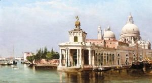 Antonietta Brandeis - The Customs House And Santa Maria Della Salute, Venice