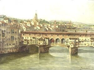 Antonietta Brandeis - View Of The Ponte Vecchio