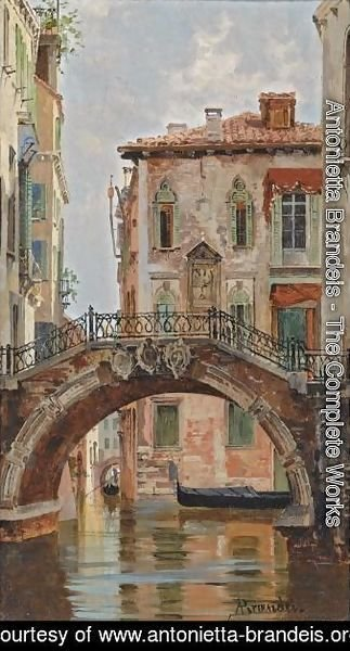 Antonietta Brandeis - A Bridge Over A Venetian Canal