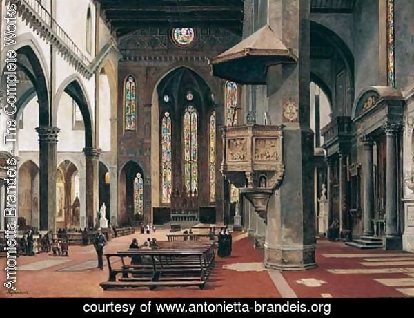 The Interior Of Santa Croce, Florence 2