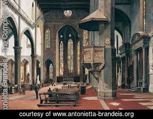 Antonietta Brandeis - The Interior Of Santa Croce, Florence 2