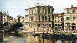Antonietta Brandeis - The Rialto Bridge