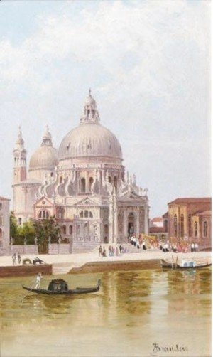 A Pair Of Venetian Views Santa Maria Della Salute