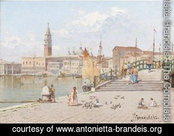 Antonietta Brandeis - View Across The Lagoon To The Doge's Palace