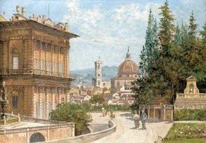 Antonietta Brandeis - View of Florence from the Baboli Gardens with the Duomo in the distance