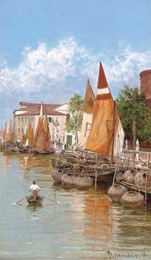 Antonietta Brandeis - Rowing past the lobster pots, Venice