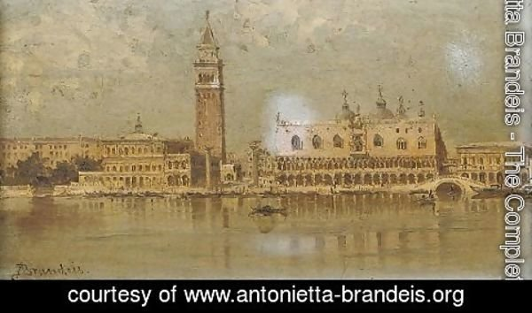 Antonietta Brandeis - On the Lagoon before Piazza San Marco, Venice