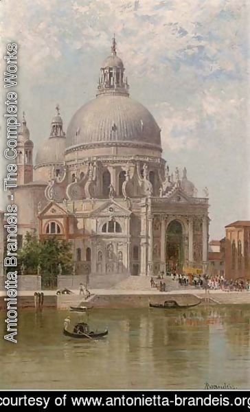Antonietta Brandeis - A church procession at Santa Maria della Salute